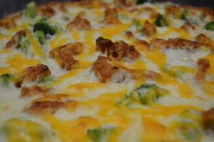 Chicken and Broccoli Pizza